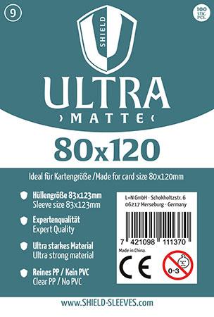 Shield Ultra Matte - 100 Super Sleeves für Kartengröße 80 x 120 mm