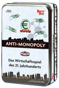 Anti Monopoly - Reisespiel Metallbox
