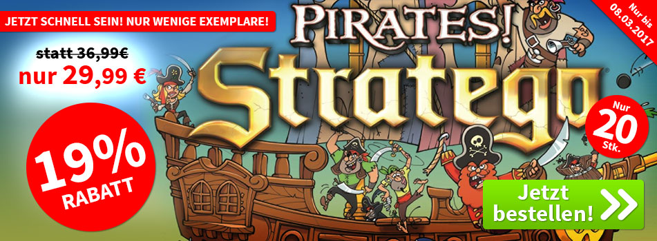 Aktion, nur bis 03.08.2017: Stratego - Pirates!