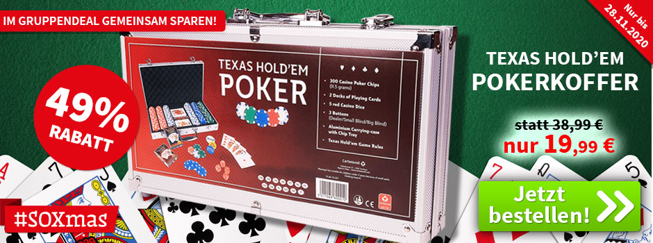 Aktion, nur bis 18.11.2020: Texas Hold´Em - Pokerkoffer