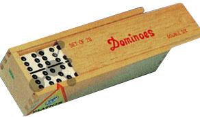 Domino in Holzkassette (28 Steine) (Piatnik)