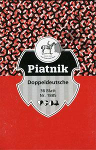 Doppeldeutsche Spielkarten 36 Blatt Blitz rot