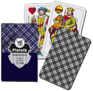 Doppeldeutsche Spielkarten 33 Blatt Karo