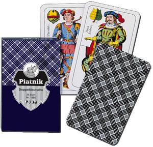 Doppeldeutsche Spielkarten 36 Blatt Karo