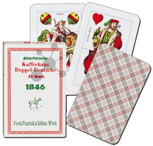 Kaffeehaus Doppeldeutsche Spielkarten