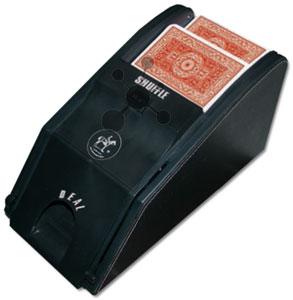 Automatische Kartenmischmaschine und Schlitten