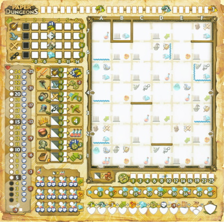 Paper Dungeons - 1 abwischbare Punktekarte