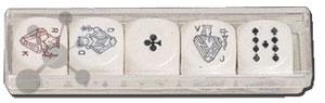 Pokerwürfel 22 mm (5 Stück)