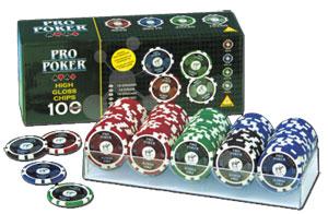 Pro Poker 100 High Gloss Chips
