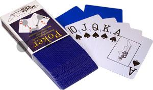Sharks Club Pokerkarten (Plastik) mit Cutcards