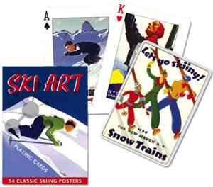 Ski Art Spielkarten