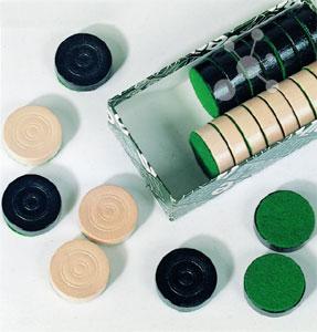 Spielsteine Mühle und Dame (24 Stück)
