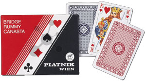 Standard Bridge, Rommé, Canasta Spielkarten