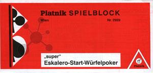 Super Eskalero Poker Block (1 Stück)