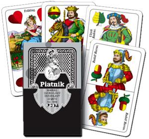 Tschechische Spielkarten Dvouhlavy