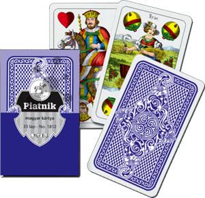 Ungarische Spielkarten blau