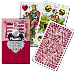 Ungarische Spielkarten rot