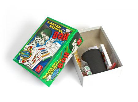 Große Karten- und Würfelbox